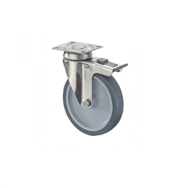 Rustfri Apparathjul - G120.A80.076 - Hjulshop