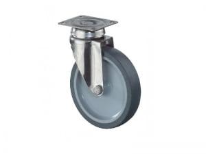 Rustfri apparathjul - G100.A80.076 - Hjulshop