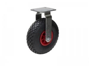 Punktérfri Ø 250 mm Hjul monteret i fast hjulgaffel