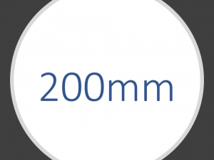 200mm transporthjul