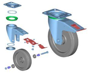 adskildt komplet hjul